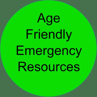 Age Friendly Emergency Resources images