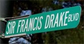 Sir Francis Drake Blvd sign