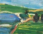 Richard Diebenkorn Landscape with three trees