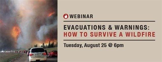 Evacuation Webinar announcement