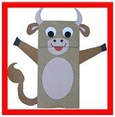 Ox Paper Bag puppet
