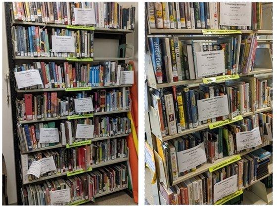 Quarantine shelves