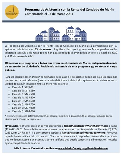 rental assistance program flyer in spanish
