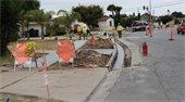 sidewalk consruction