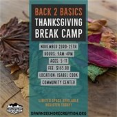 Thanksgiving Break Camp