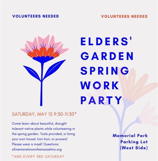 elders garden work party