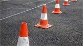 Cones on a road