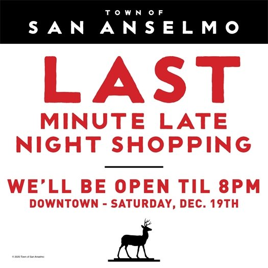 Downtown last minute shopping