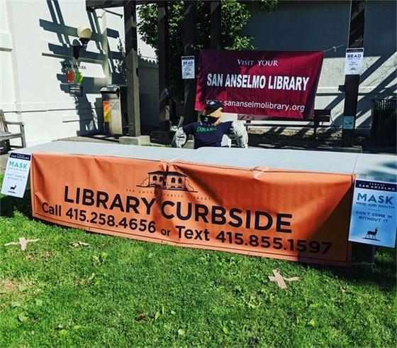 San Anselmo Library curbside