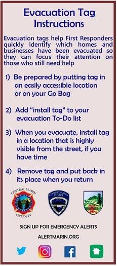 evacuation instructions