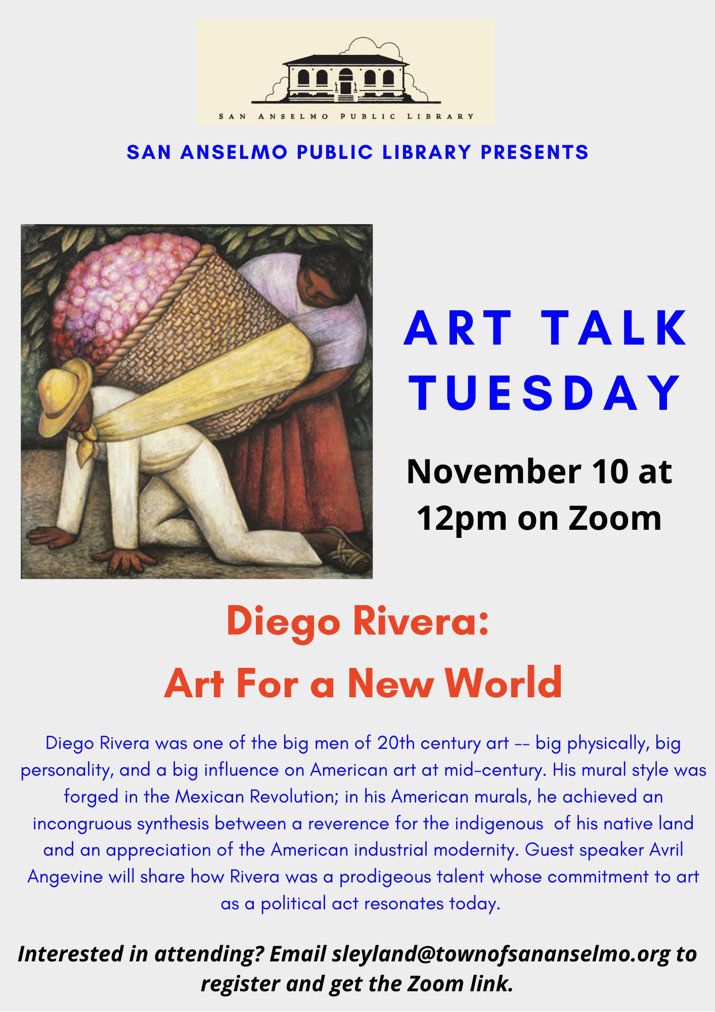 November 2020 Art Talk flyer