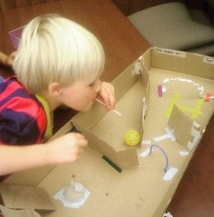 Cardboard Maze Kiddo Crafternoon