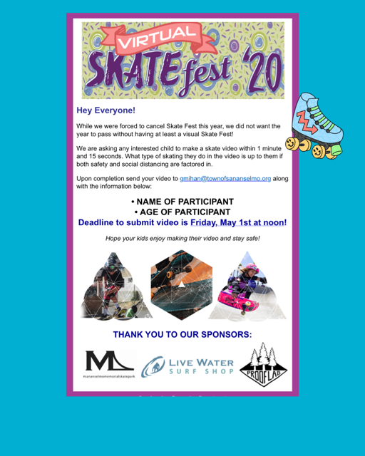 Virtual Skatefest Opens in new window