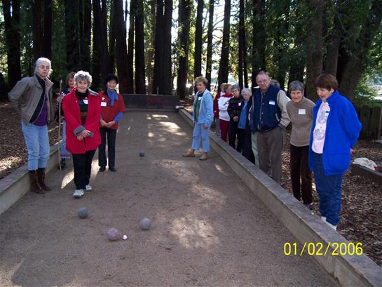 RVS playing bocce ball