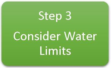 Step 3 Consider Water